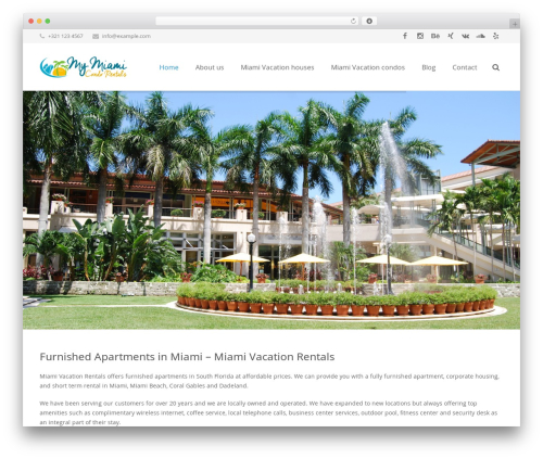 WordPress website template Impreza - miamivacationrentals.org