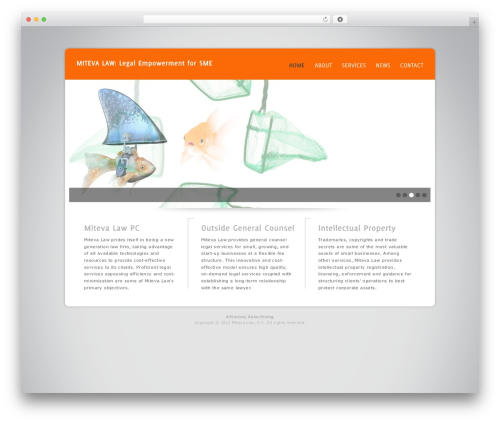 WP theme Design Agency WP Edition - mitevalaw.com