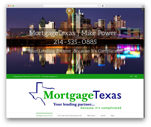 Avada premium WordPress theme - mortgagetx.net