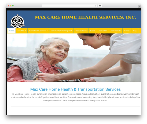 Best WordPress template health-center-lite - maxcarehomehealth.com