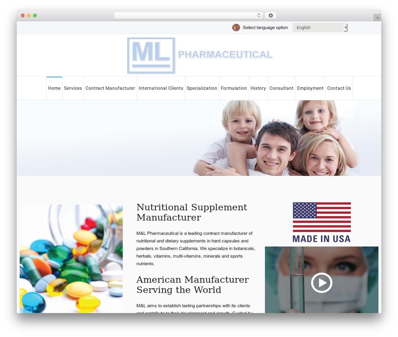 Best WordPress template Salamat - mlpharmaceutical.com