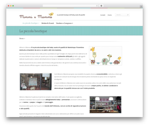 Boutique WordPress template free download - mimmiemamme.it