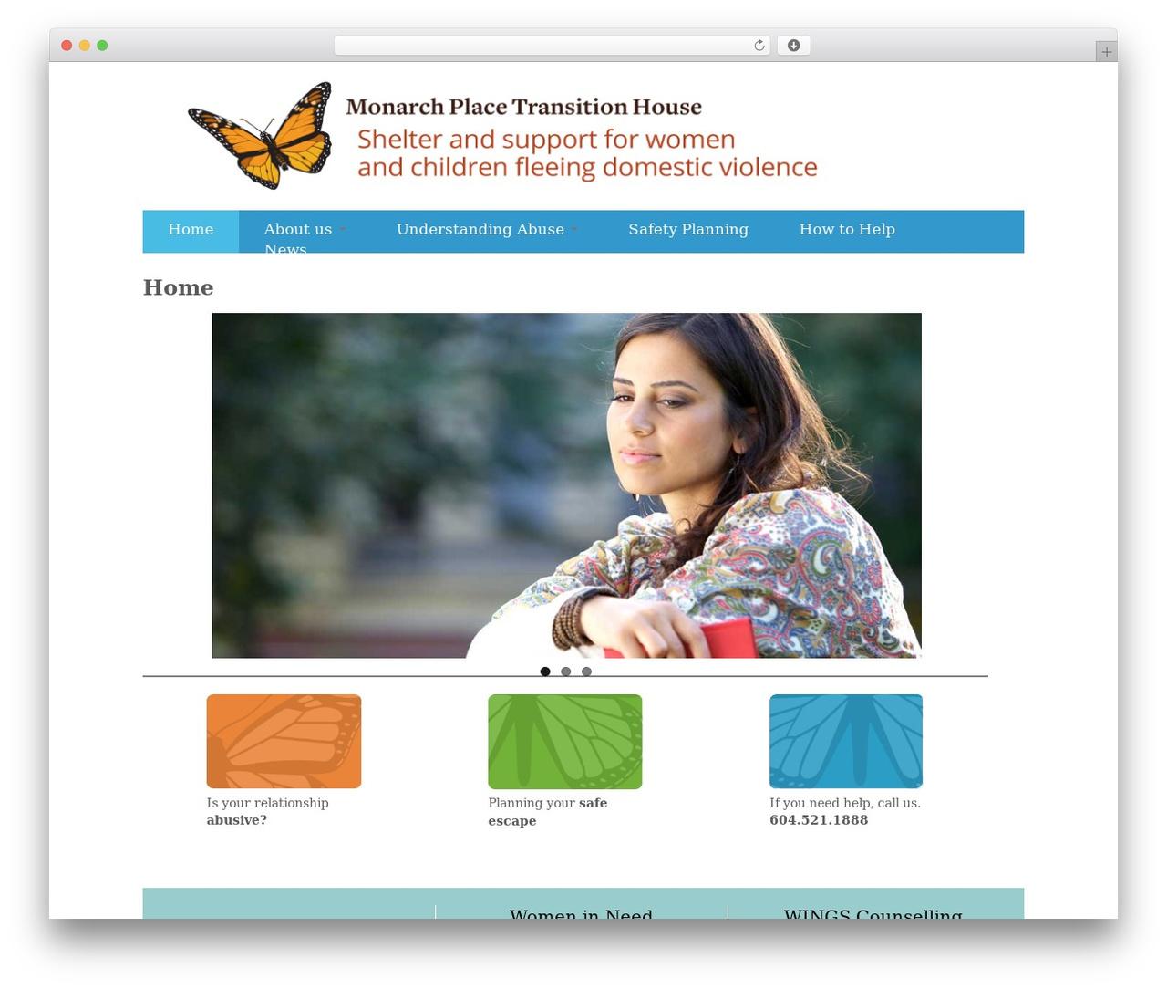Customizr free WordPress theme - monarchplace.org