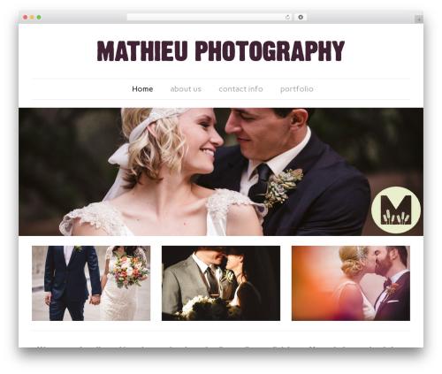 Dorado Blogsite (ITDR) WordPress theme image - mathieuphoto.com