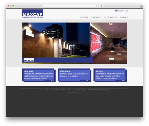 Elegance WordPress page template - maxcap.com.br