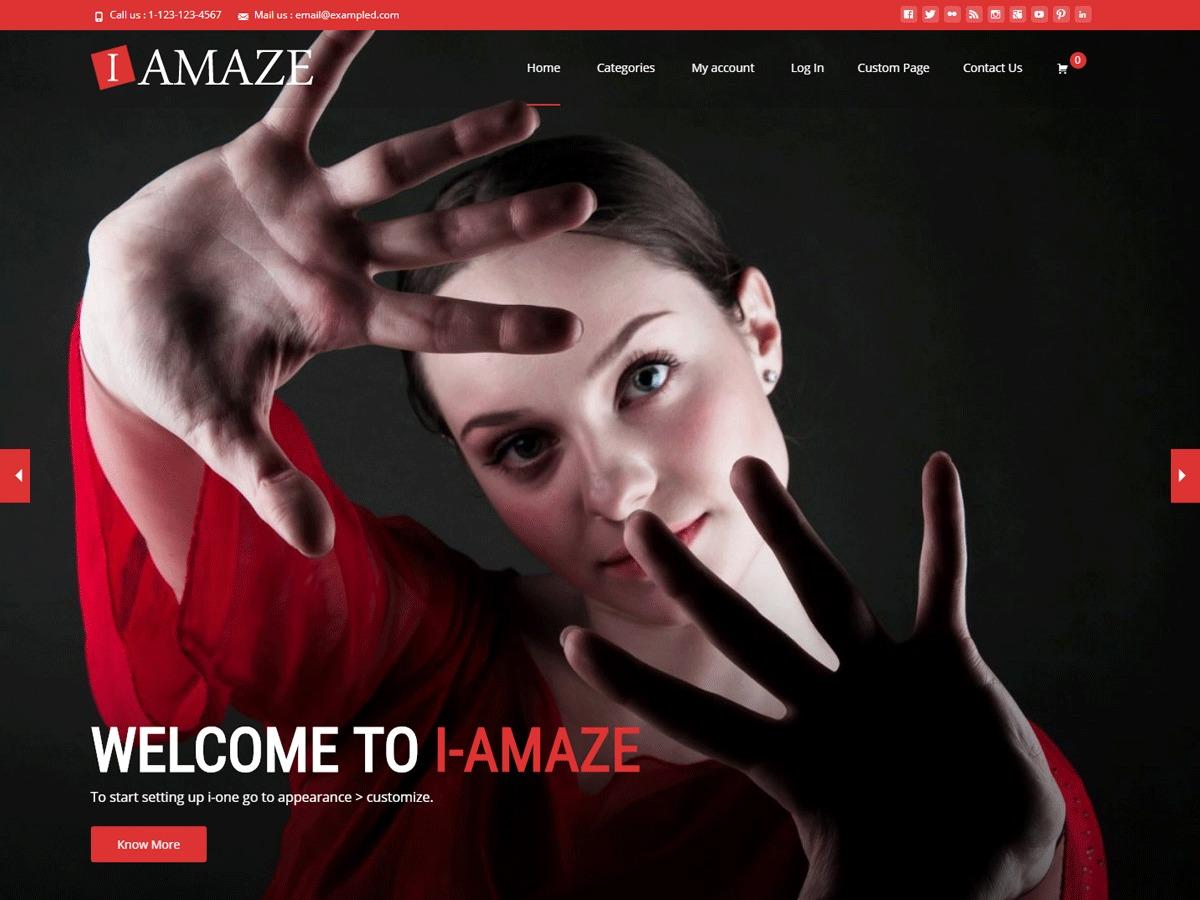 i-amaze personal WordPress theme