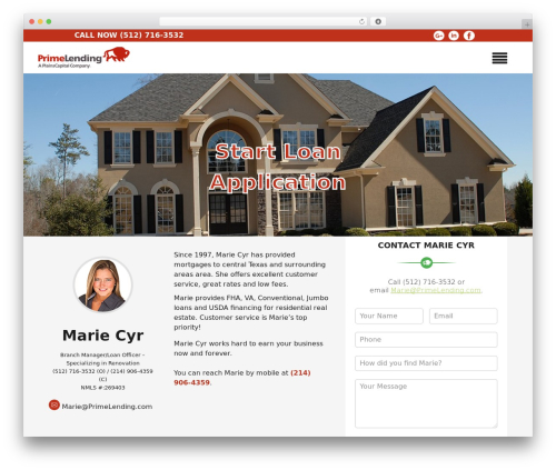 Insurance Now best free WordPress theme - mariecyr.com