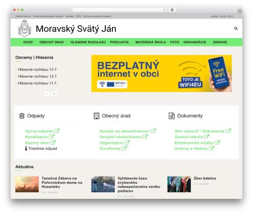 JNews best WordPress magazine theme - moravskysvatyjan.sk