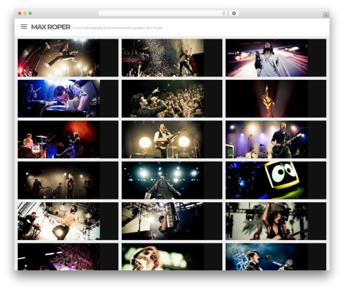 Lookbook WordPress theme - maxroper.com
