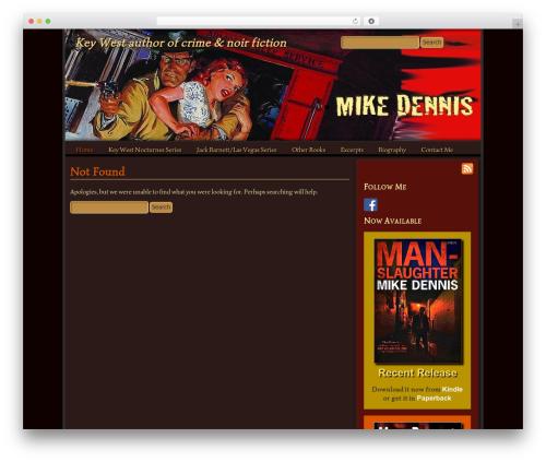 Mad Meg WordPress theme - mikedennisnoir.com