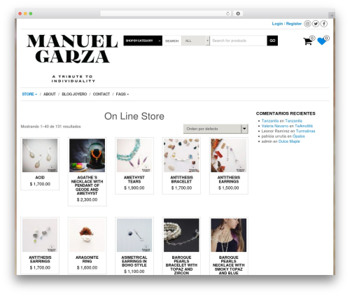 MaxStore best free WordPress theme - manuelgarza.com.mx