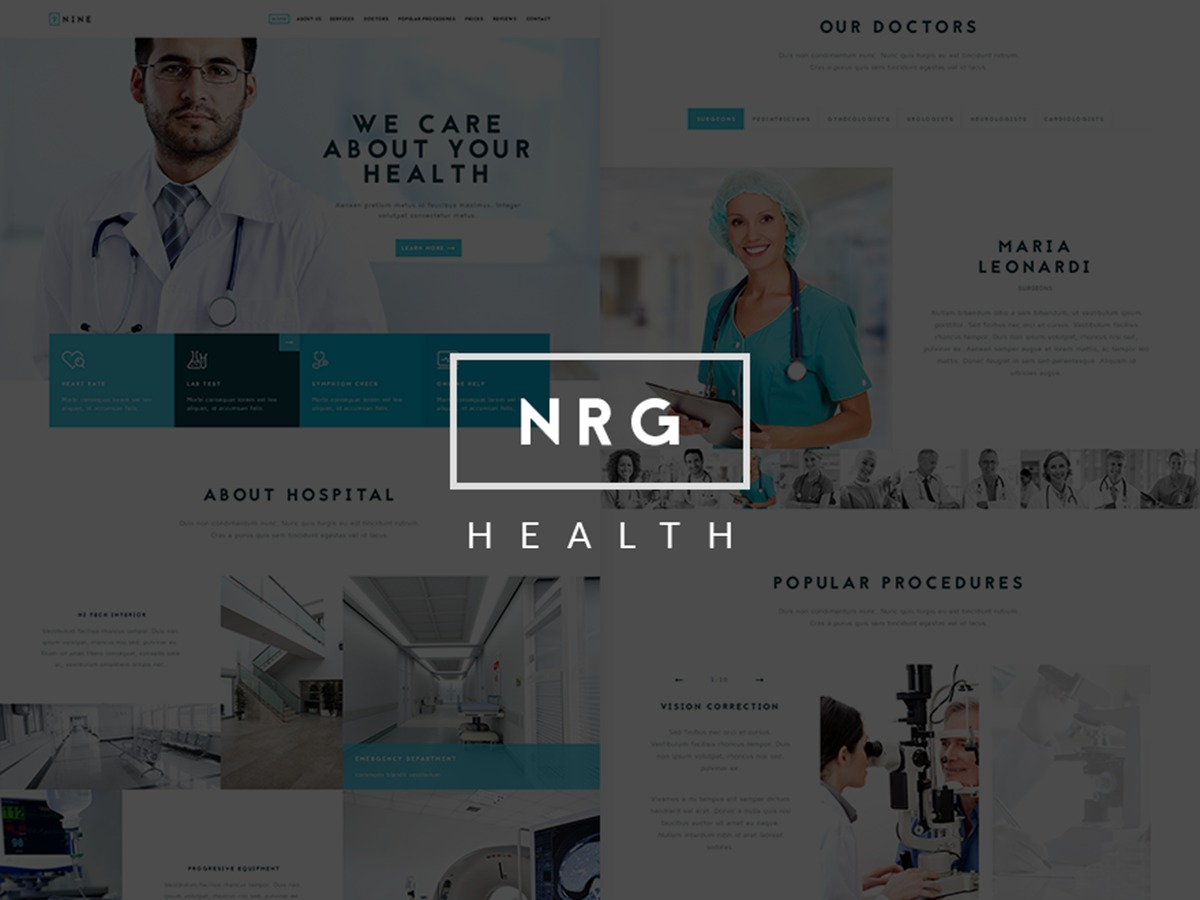 NRGHospital WordPress website template