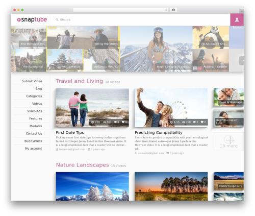 Snaptube WordPress blog theme - memevox.com