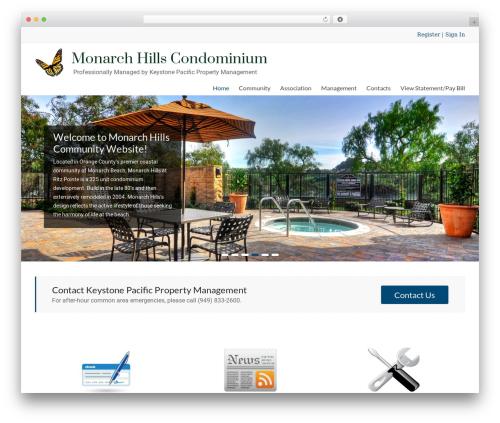 Spacious Pro template WordPress - monarchhillshoa.com