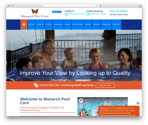 SSP Starter WordPress ecommerce template - monarchpoolcare.com