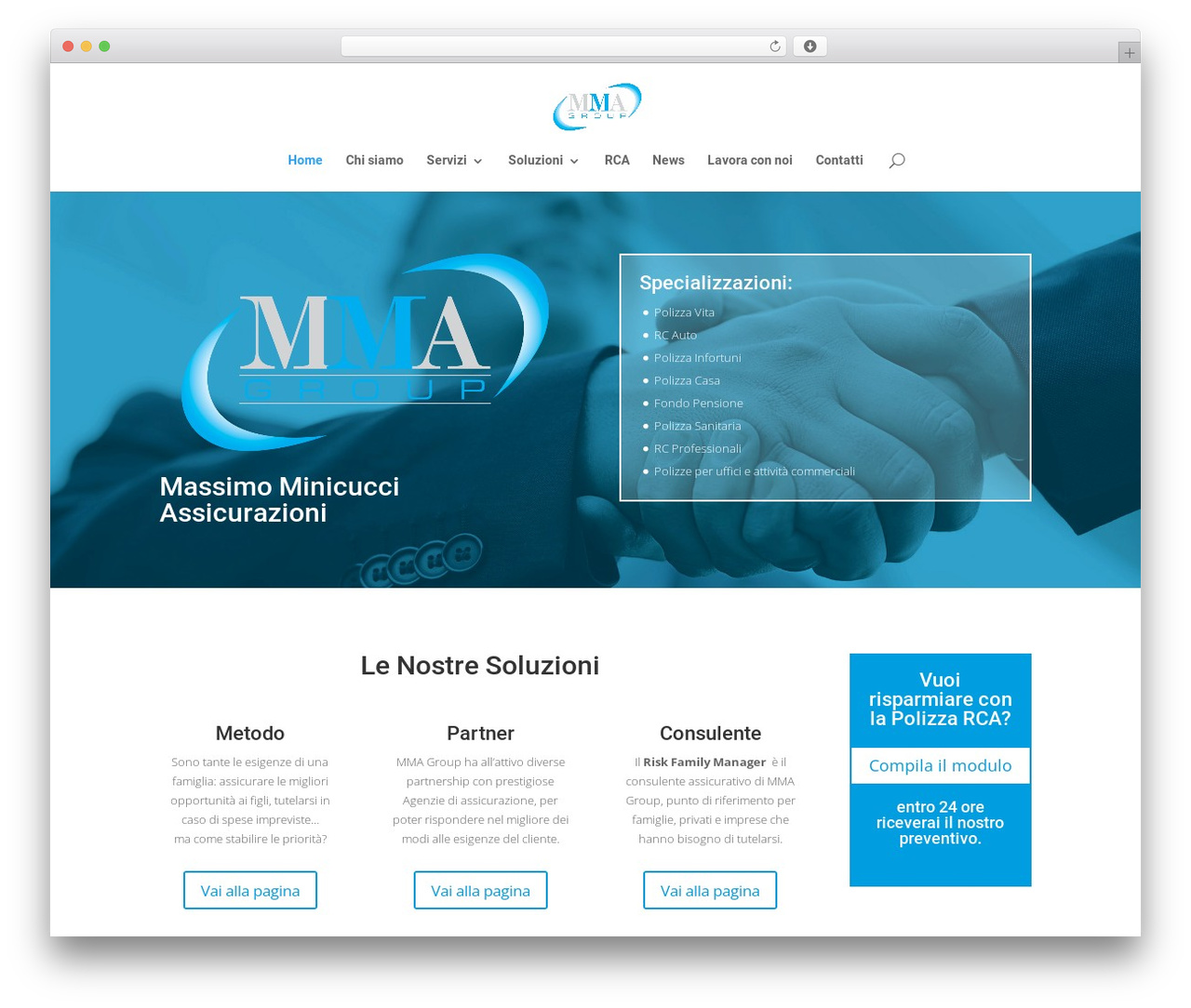 Template WordPress Divi - mmagroup.it