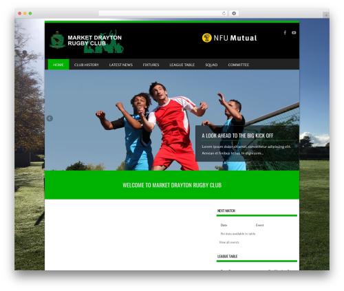 Template WordPress SportyPro - mdrufc.com