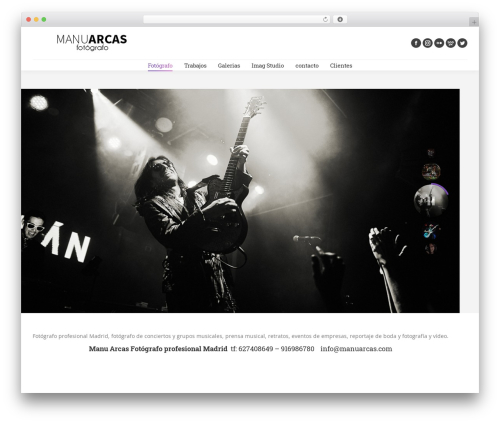 The7 WordPress theme - manuarcas.com