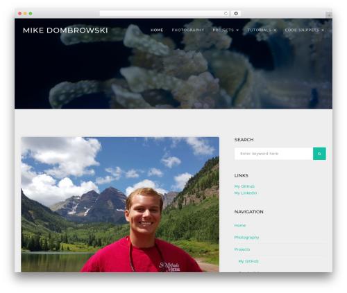 TheFour Lite WordPress theme - mikedombrowski.com
