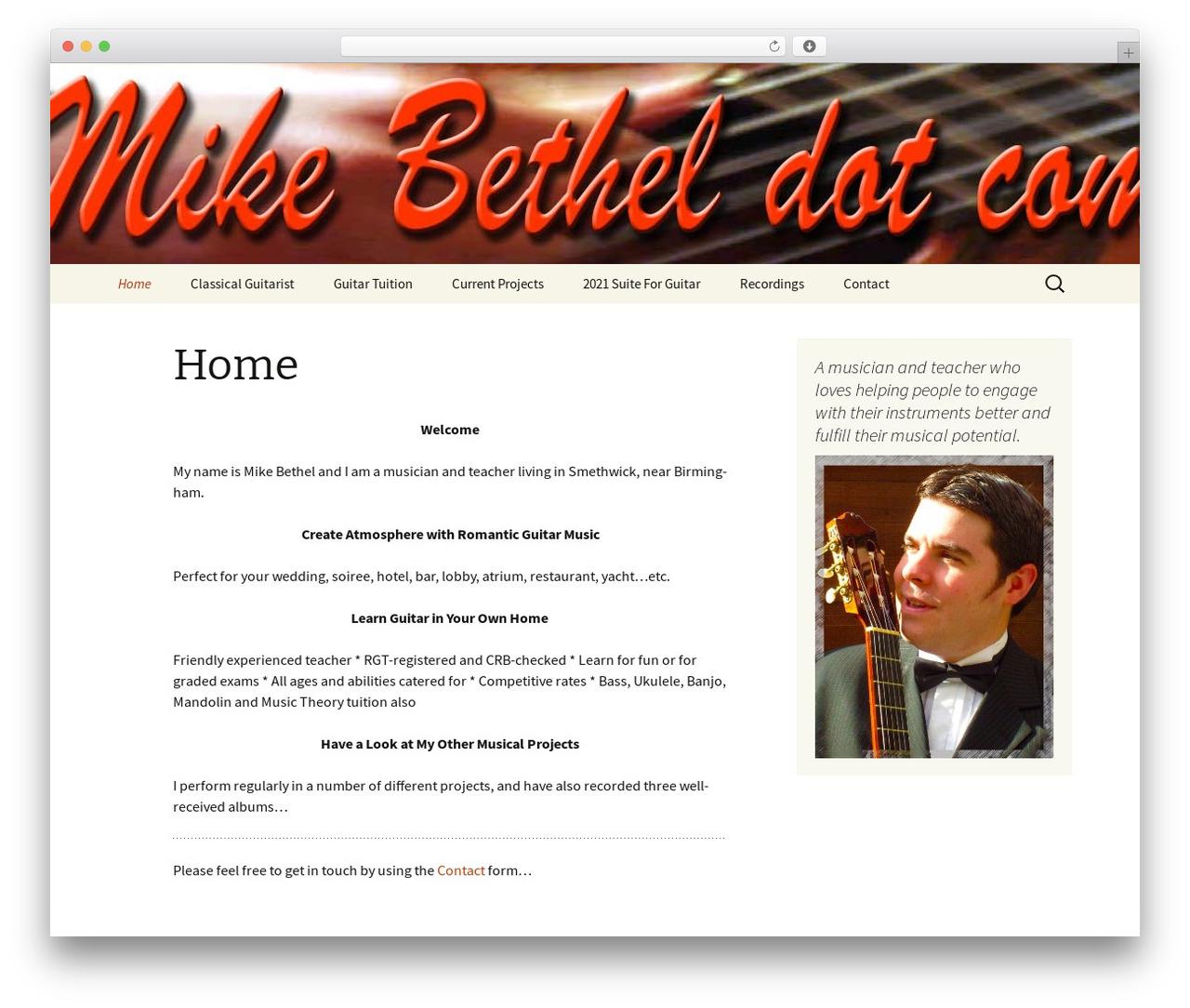 Twenty Thirteen free WP theme - mikebethel.com
