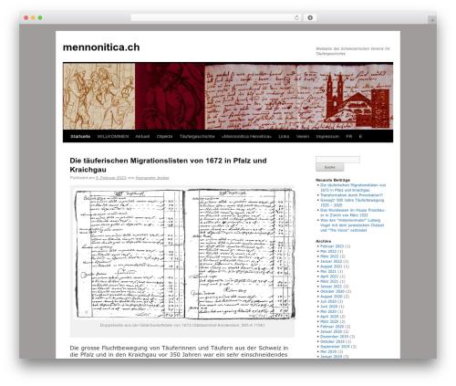 twentyten-child WordPress page template - mennonitica.ch