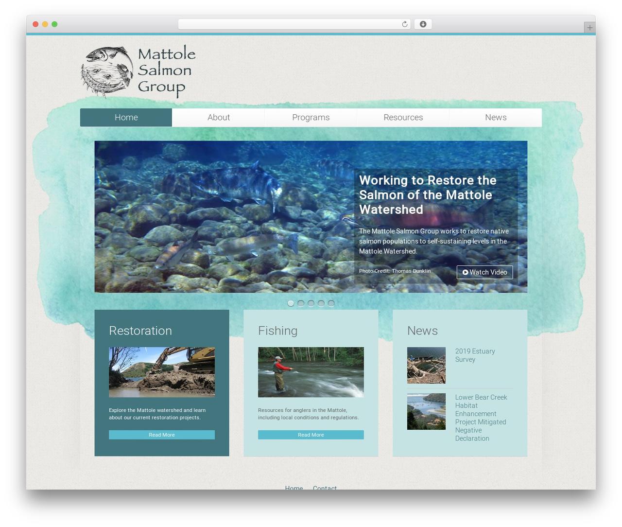 Unity WordPress theme - mattolesalmon.org
