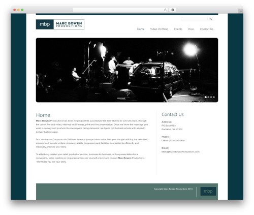WordPress template Creation - marcbowenproductions.com
