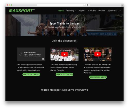 WordPress theme Divi (shared on wplocker.com) - maxsport.com
