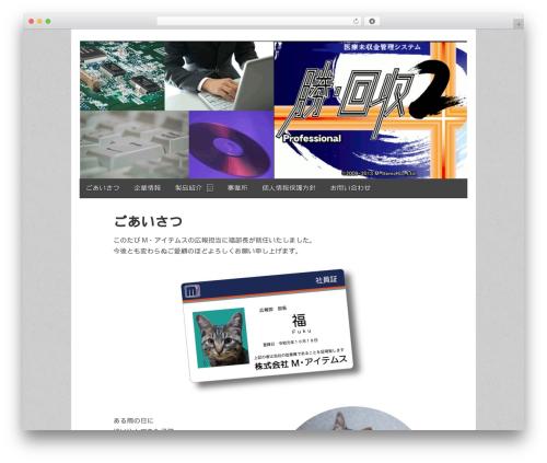 WordPress website template Gridiculous - mitems.jp