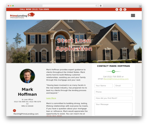 WordPress website template Insurance Now - mortgagesbymarkhoffman.com