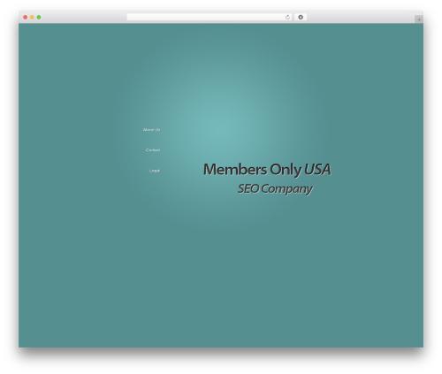 WP theme BusinessCard - membersonlyusa.com