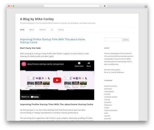 Free WordPress Shashin plugin - mikeconley.ca/blog
