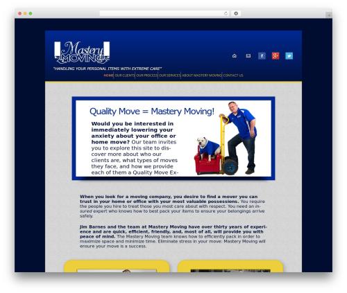 Best WordPress theme Twenty Twelve Child - masterymovers.com