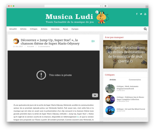 Bliss by Bluthemes top WordPress theme - musicaludi.fr