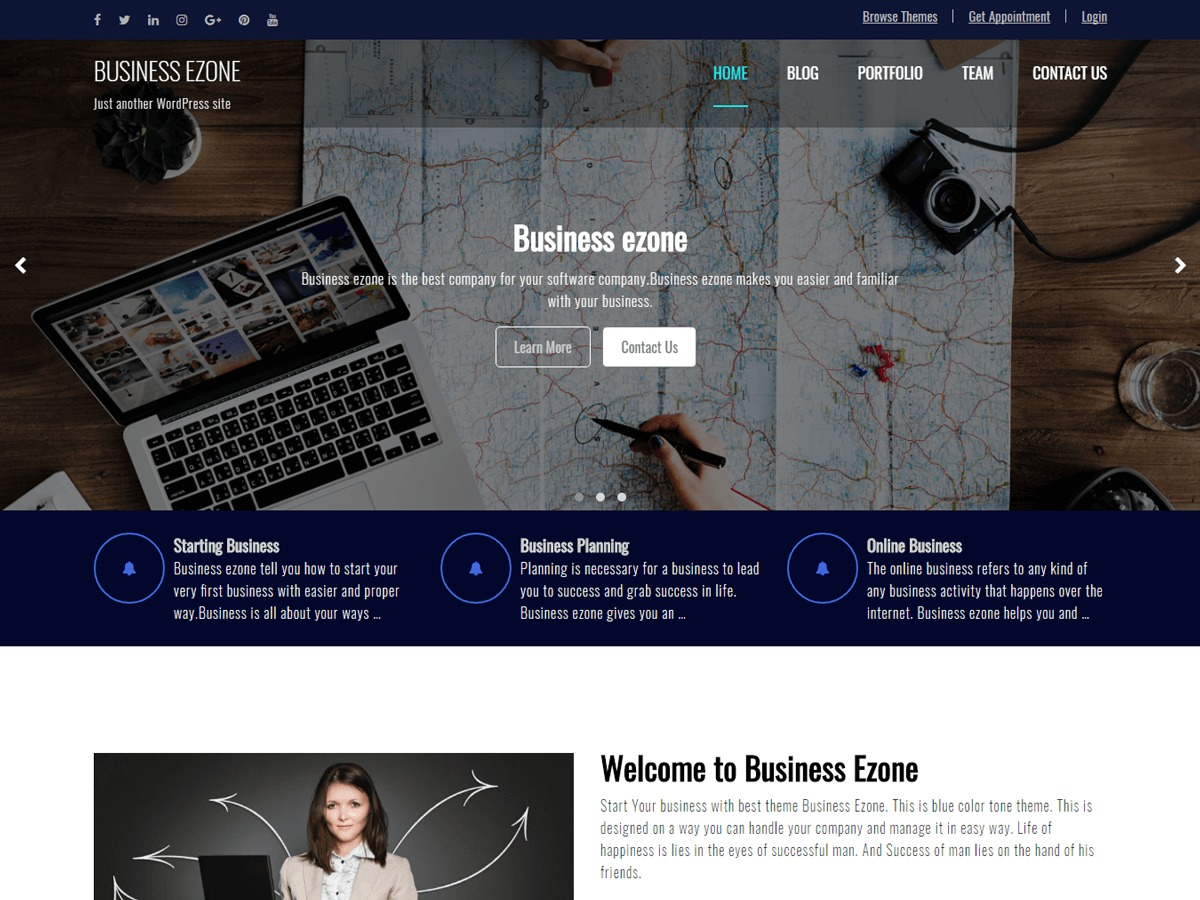Business Ezone food WordPress theme