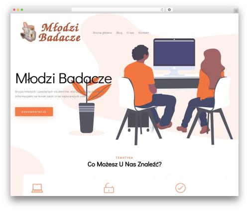 Businessx best WordPress template - mlodzibadacze.pl