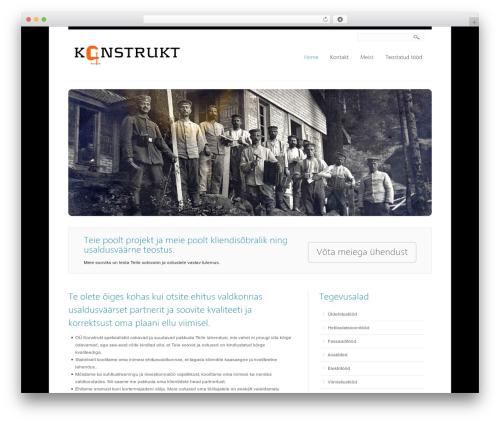 Creation best WordPress template - meister.ee