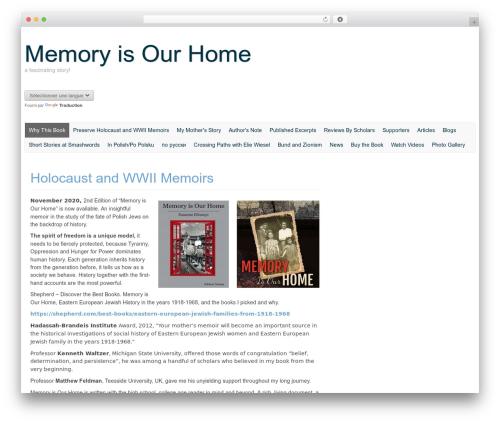 Custom Community best free WordPress theme - memoryisourhome.com