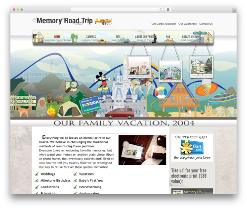 eStore WordPress shop theme - memoryroadtrip.com