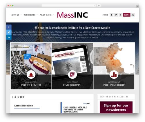 Magazine newspaper WordPress theme - massinc.org