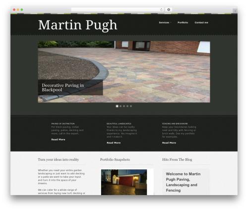 Swatch WordPress theme - mpugh.co.uk