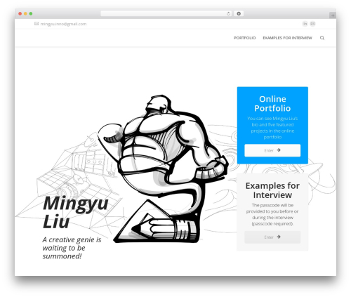 The7 WordPress portfolio template - mingyu-design.com