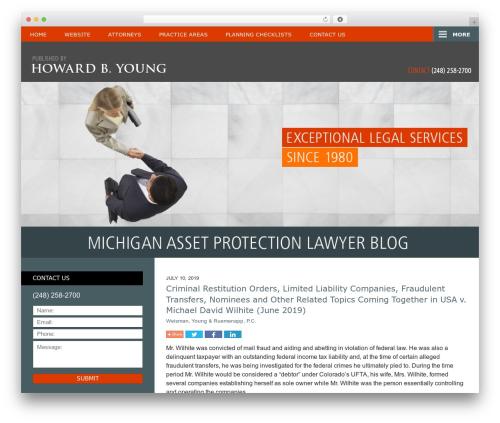 Willow-Responsive WordPress blog theme - michiganassetprotectionlawyerblog.com