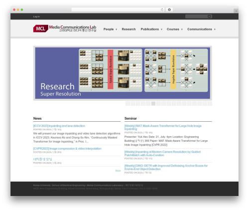 WordPress template Clearly Modern - mcl.korea.ac.kr