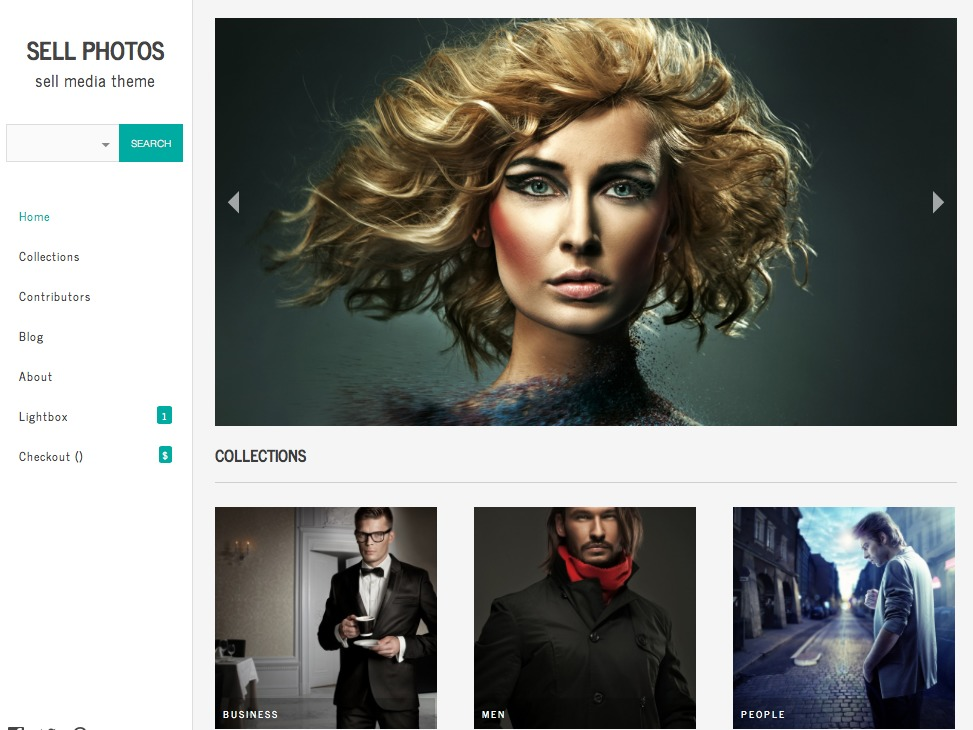 WordPress template Sell Photos