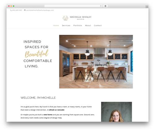 WordPress theme Divi - michellewhaleydesign.com