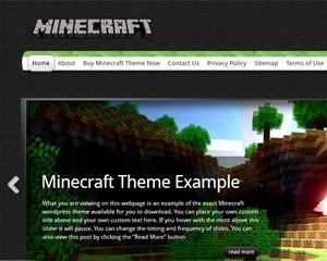 WordPress Theme Minecraft Wordpress