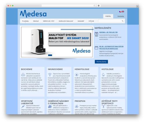 WordPress website template theme1626 - medesa.cz