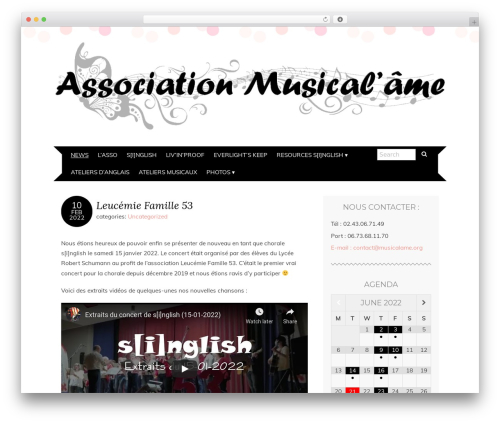 Adelle best free WordPress theme - musicalame.org
