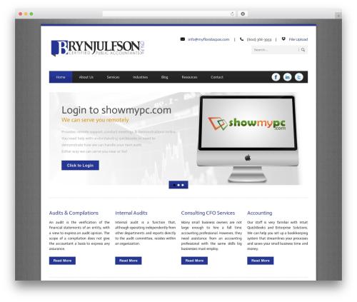 Blue Diamond best WordPress template - myfloridacpas.com
